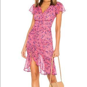 Majorelle Elaine Midi Dress in Pink Baybreeze
